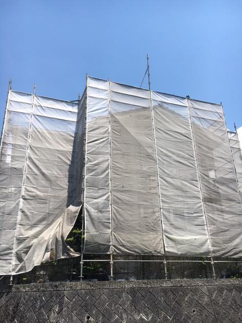松山市外壁塗装 技昇